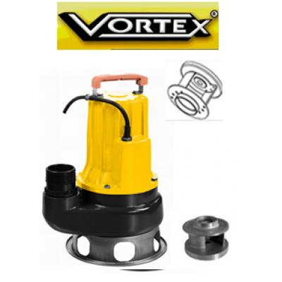 Vortex Vmcm 30 M- T 2Hp Paslanmaz çelik Çift kanatlı Kanallı Pis Su Dalgıç Pompa